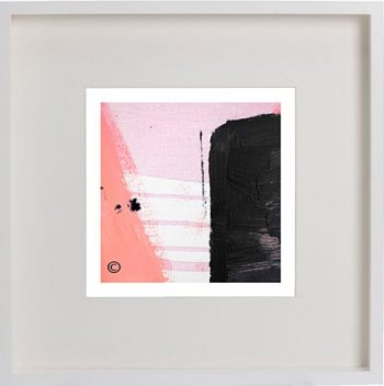 White Framed Print with Modern Art By Artist Sarah Jane - Hope IVa