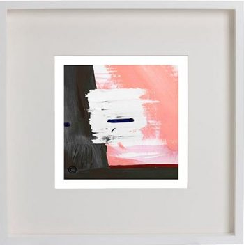 White Framed Print with Modern Art By Artist Sarah Jane - Hope VIa