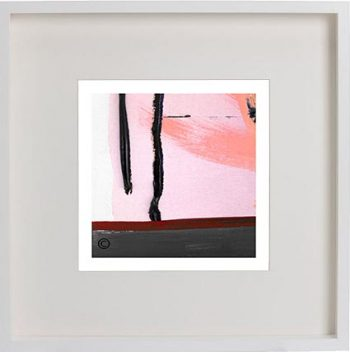 White Framed Print with Modern Art By Artist Sarah Jane - Hope Va