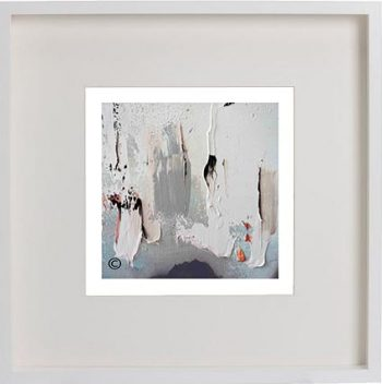 White Framed Print with Modern Art By Artist Sarah Jane - On the Move XIIIa