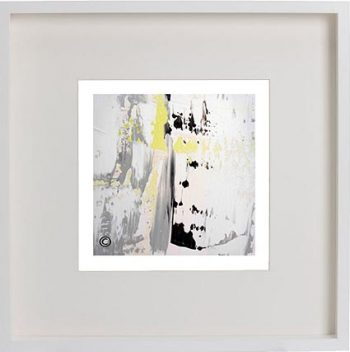 White Framed Print with Modern Art By Artist Sarah Jane - On the Move XXXI