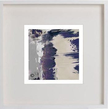 White Framed Print with Modern Art By Artist Sarah Jane - One of Us XIIId