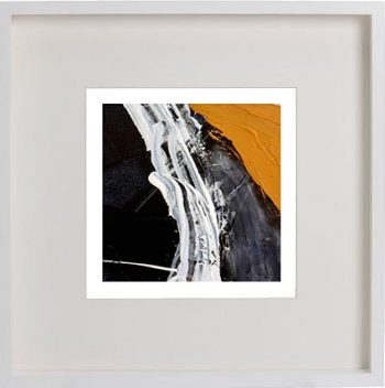 White Framed Print with Modern Art By Artist Sarah Jane - Playful Pair Vc
