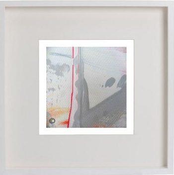 White Framed Print with Modern Art By Artist Sarah Jane - Reaching Out LIII