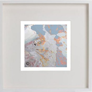 White Framed Print with Modern Art By Artist Sarah Jane - Reaching Out LIIf