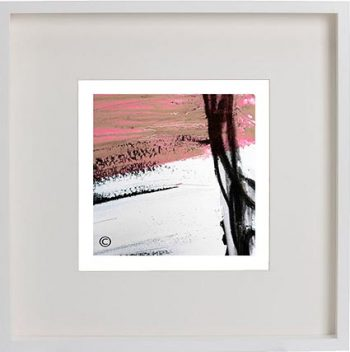 White Framed Print with Modern Art By Artist Sarah Jane - Regal IIIe