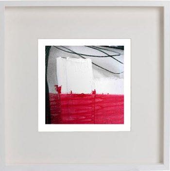 White Framed Print with Modern Art By Artist Sarah Jane - Regal IV