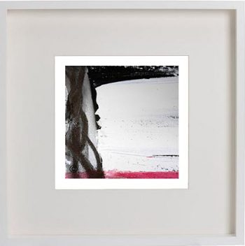 White Framed Print with Modern Art By Artist Sarah Jane - Regal VII