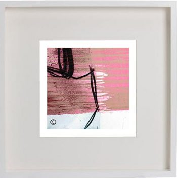 White Framed Print with Modern Art By Artist Sarah Jane - Regal Vb