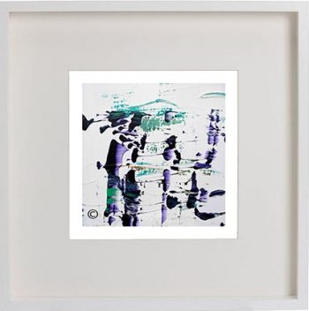 White Framed Print with Modern Art By Artist Sarah Jane - Relax XVI