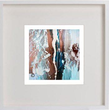 White Framed Print with Modern Art By Artist Sarah Jane - Tenderness VII