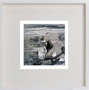 White Framed Print with Modern Art By Artist Sarah Jane - Tenderness X