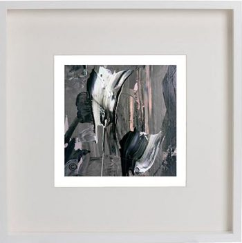 White Framed Print with Modern Art By Artist Sarah Jane - Tenderness XI