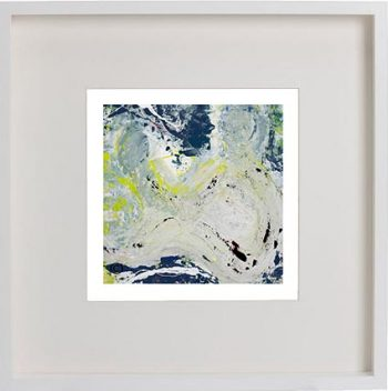 White Framed Print with Modern Art By Artist Sarah Jane - Unconditional Love Ia