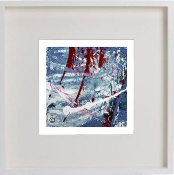 White Framed Print with Modern Art By Artist Sarah Jane - Unconditional Love Vb