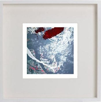 White Framed Print with Modern Art By Artist Sarah Jane - Unconditional Love XVIb