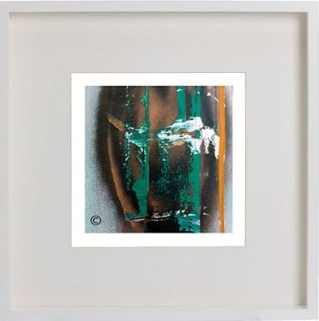 White Framed Print with Modern Art By Artist Sarah Jane - United we Stand II