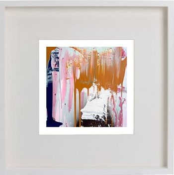 White Framed Print with Modern Art By Artist Sarah Jane - United we Stand IIIa