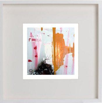 White Framed Print with Modern Art By Artist Sarah Jane - United we Stand V