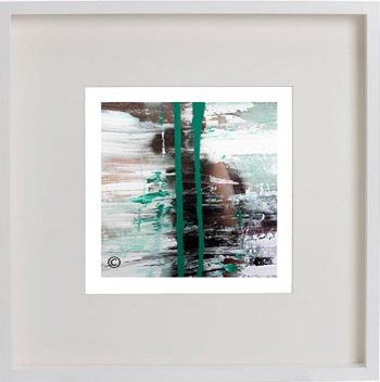White Framed Print with Modern Art By Artist Sarah Jane - United we Stand VII