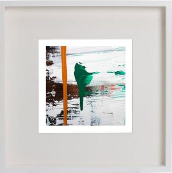 White Framed Print with Modern Art By Artist Sarah Jane - United we Stand XVIII
