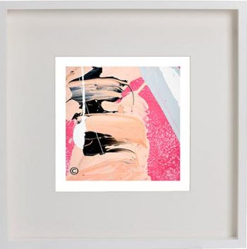 White Framed Print with Modern Art By Artist Sarah Jane - Wanderers VI