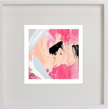 White Framed Print with Modern Art By Artist Sarah Jane - Wanderers XI