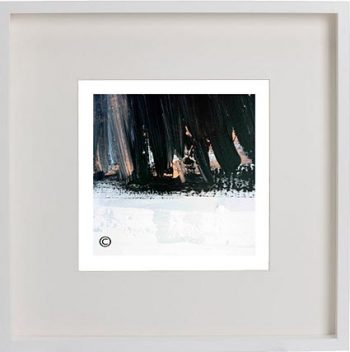 White Framed Print with Modern Art By Artist Sarah Jane - Warrior VII