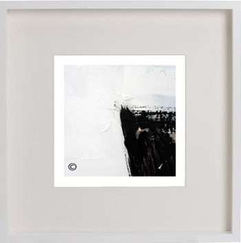 White Framed Print with Modern Art By Artist Sarah Jane - Warrior XV