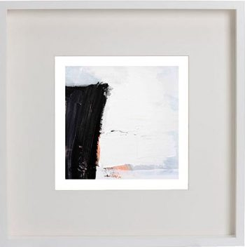 White Framed Print with Modern Art By Artist Sarah Jane - Warrior XVI