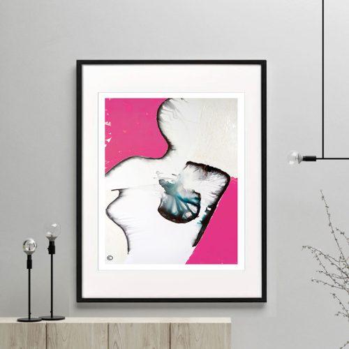 breast-cancer-awareness-art-print-modern---Silhouette-Ia-Framed-or-Unframed---Sarah-Jane-Australian-Artist