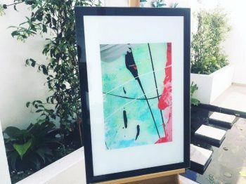 colourful tribal print on glass - Reaching Out LII By Australian Artist Sarah Jane