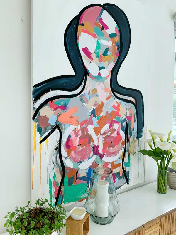 contemporary art gallery australia with large figurative painting by sarah jane artist titled love generation