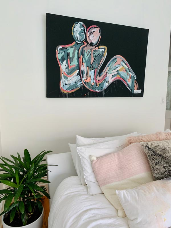 energetic bedroom art titled lovers crush i by sarah jane