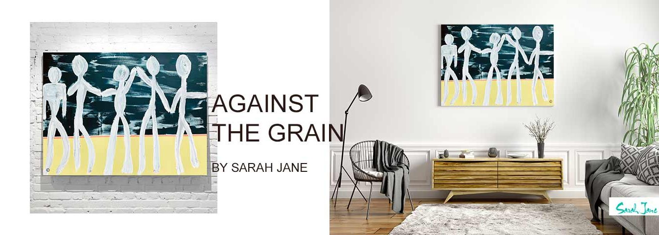 modern abstract art australia - sarah jane modern paintings portfolio - against the grain