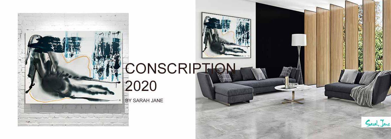modern abstract art australia - sarah jane artist modern paintings portfolio - conscription 2020 - i