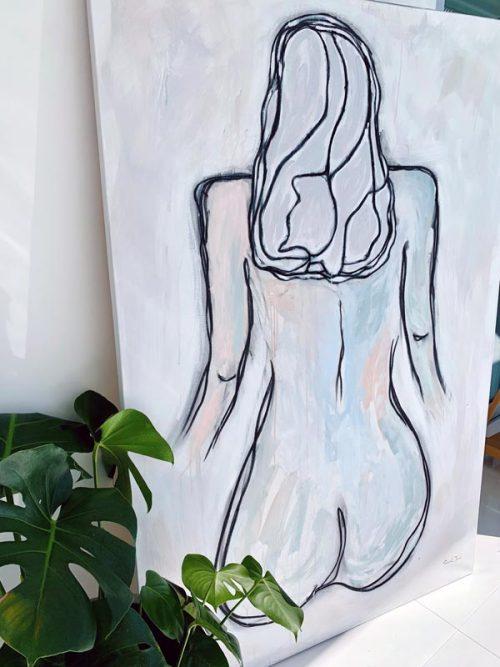 modern-figurative-painting-womans-body-close-up-detail---soft-colours---linear-soeur-i---artist-sarah-jane