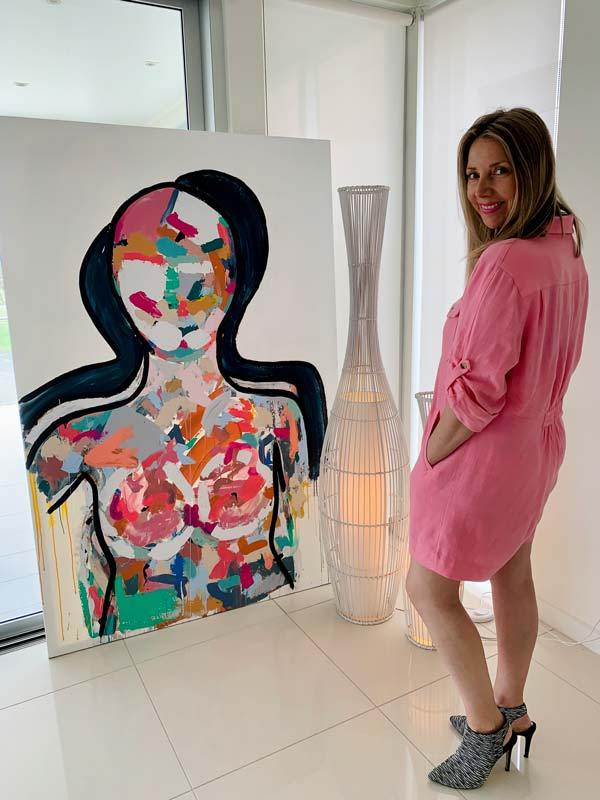 on trend large paintings by sarah jane artist - love generation