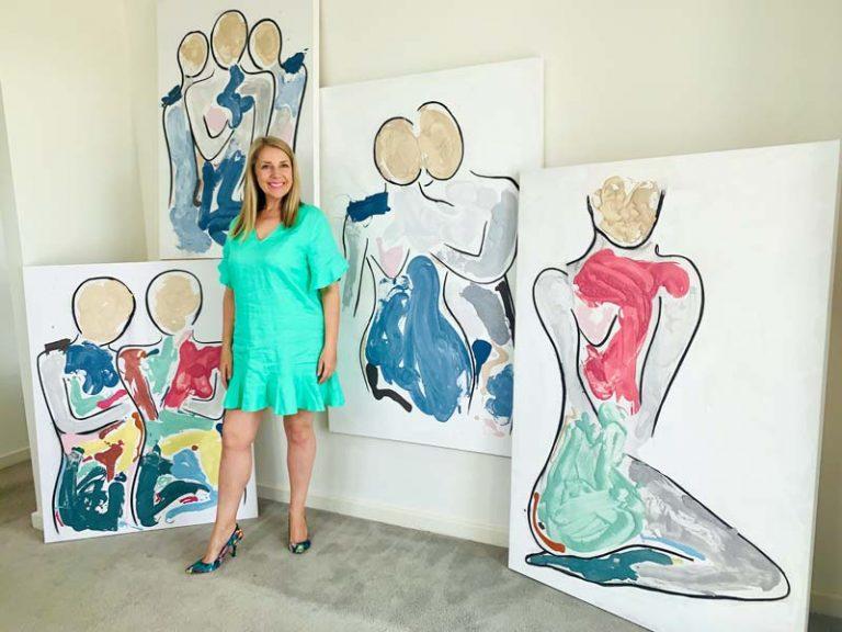 sarah jane artist contemporary art collection - bodyline and bodyline bold