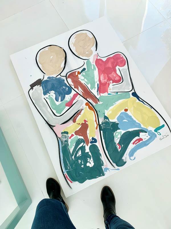 sarah jane artist original painting people titled bodyline bold i