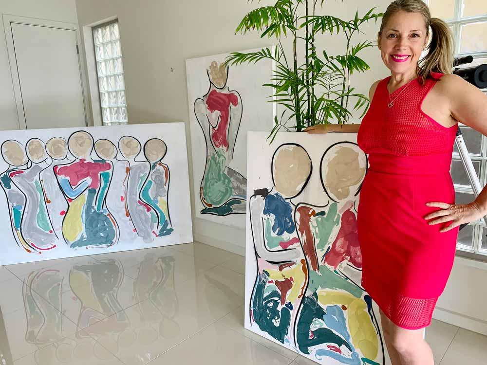 sarah jane australian artist showcases bodyline bold collection