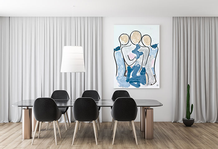 sarah jane mother ad kids painting contemporary titled bodyline xi in a modern family room