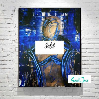 sarah-jane-paintings-sold---faceless-painting-modern-abstract-man-unknown---dark-colours