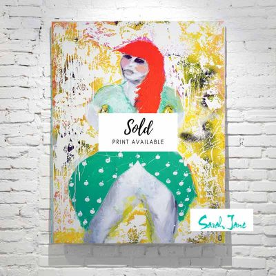 sarah-jane-paintings-sold---own-stride-modern-painting-bright--woman-hippy-dress