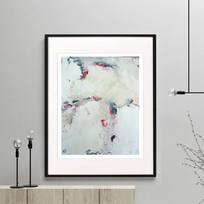 soft print modern abstract titled electric dreams i by sarah jane australian artist framed or unframed