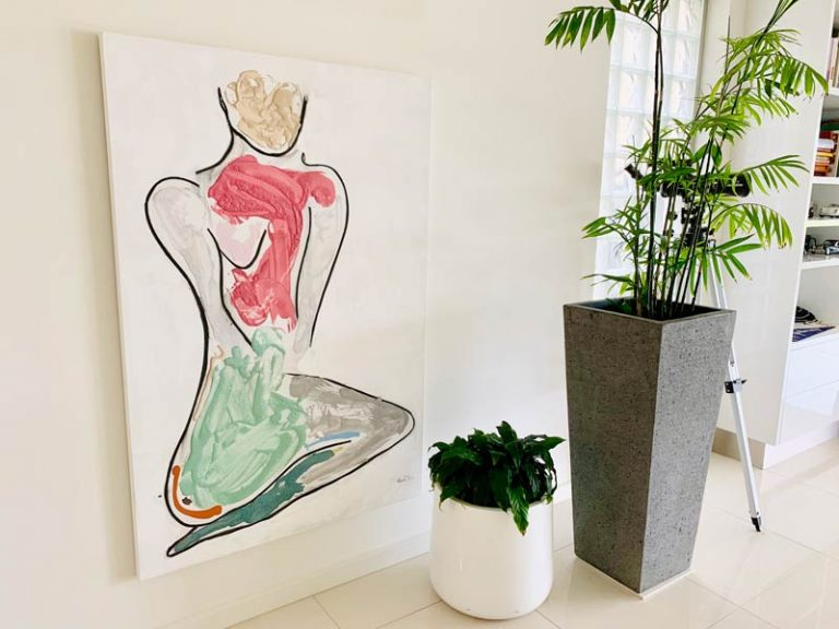 stylish interiors with bodyline bold iii painting by australian artist sarah jane