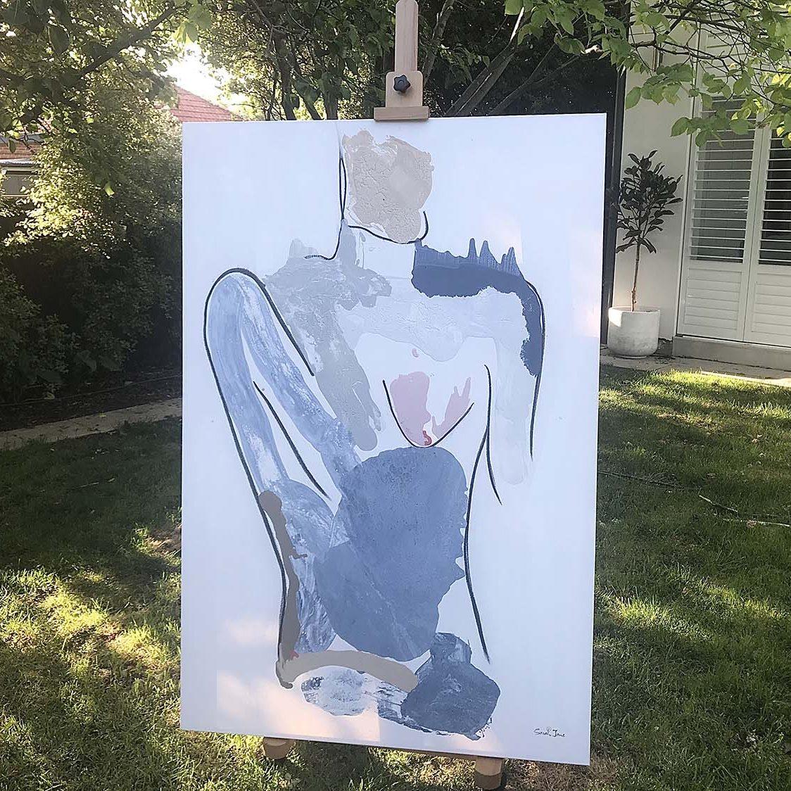 woman body painting - Bodyline I - Australian Artist Sarah Jane