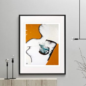 woman breast cancer print modern abstract - Silhouette I Framed or Unframed - Sarah Jane Australian Artist