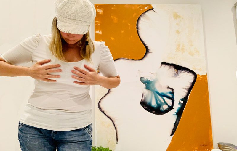"""Woman fighting breast cancer painting – In honour of you all """"Silhouette"""""""